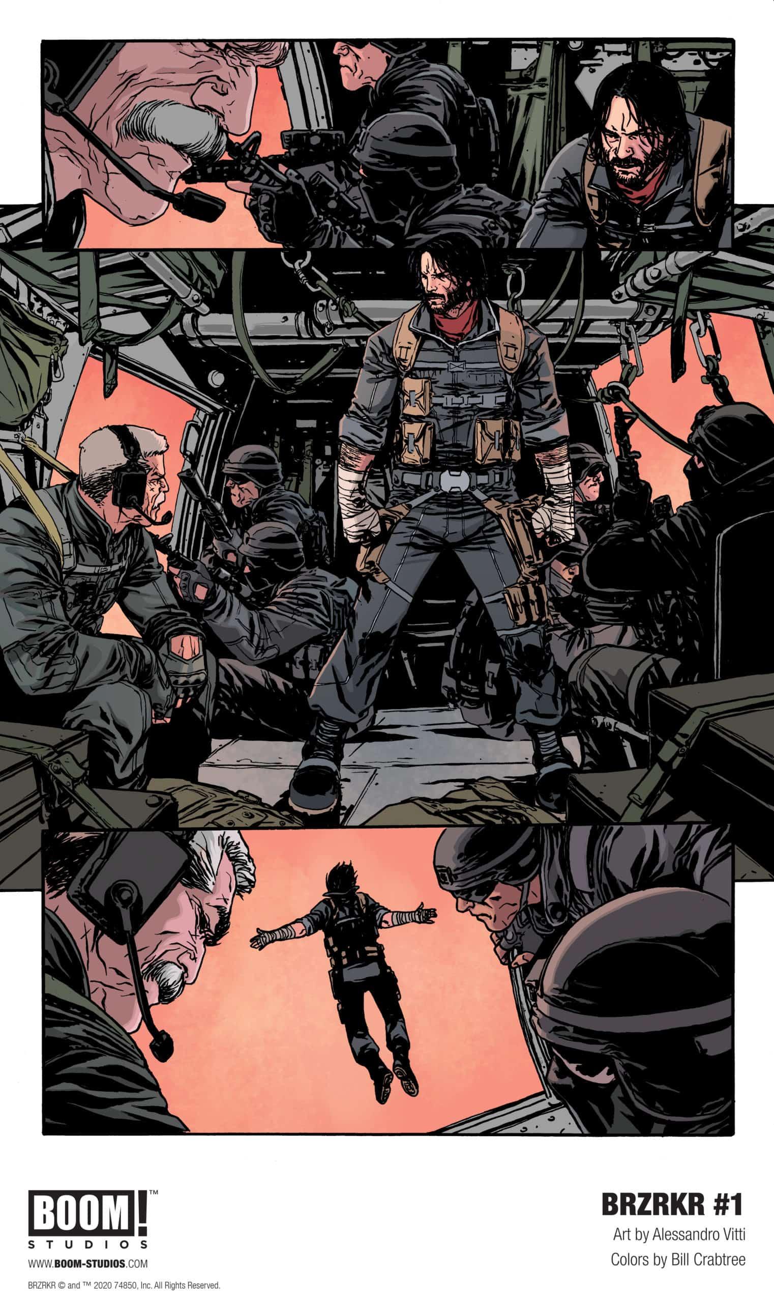 Keanu Reeves BRZRKR Comic Book Boom Studios