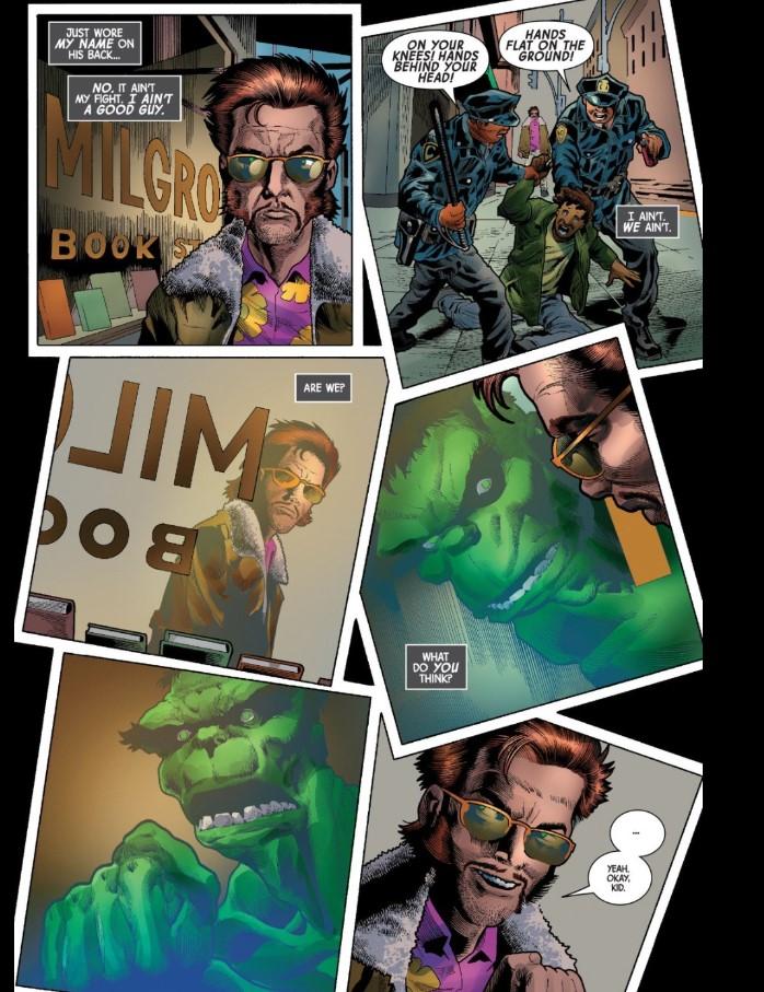 Cops bad Al Ewing Immortal Hulk Marvel Comics