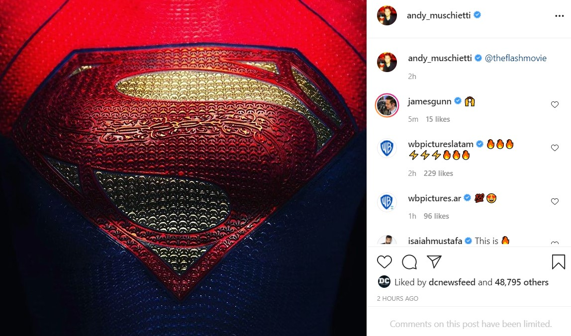 Andy Muschietti teases Supergirl Sasha Calle costume for The Flash