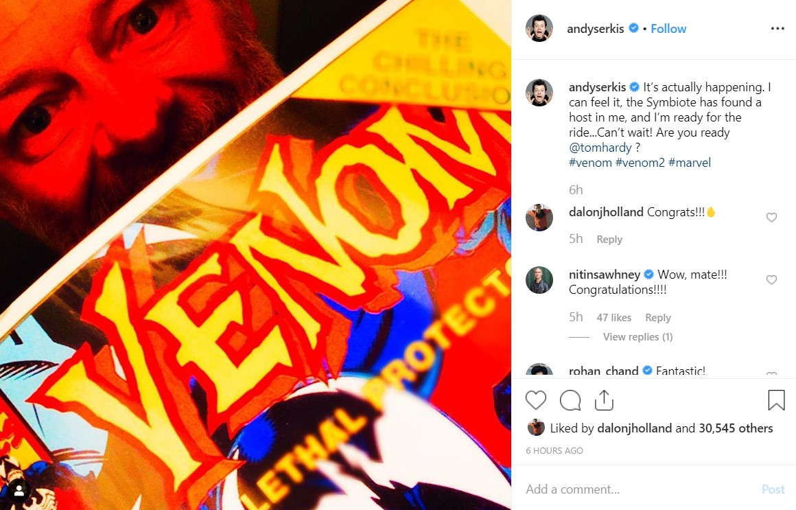 Andy Serkis Venom 2
