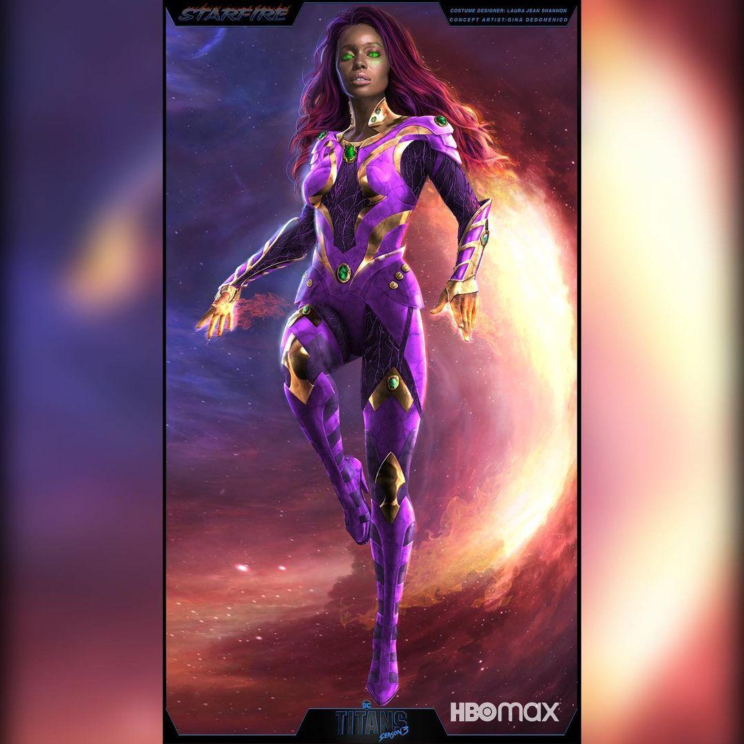 Titans Season 3 Anna Diop Starfire concept art