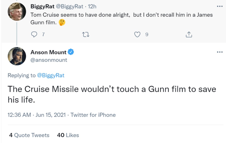 Anson Mount James Gunn