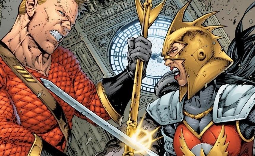 Aquaman vs Wonder Woman Flashpoint DC Comics