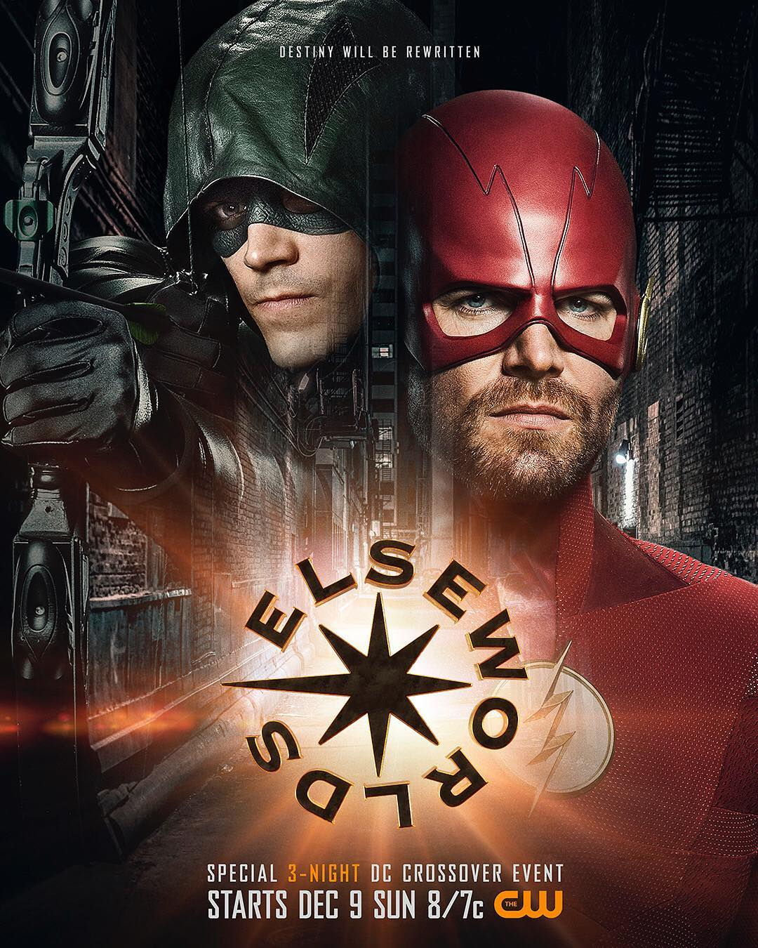 Arrowverse Elseworlds Poster Flips Arrow and The Flash