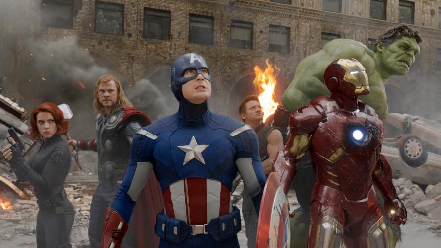 The Avengers circle scene MCU
