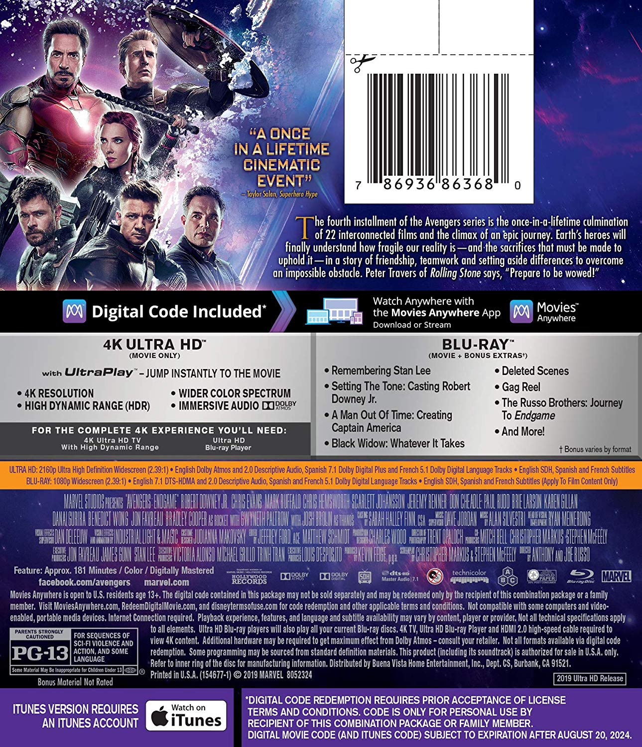 Avengers: Endgame Blu-Ray Announced, Deleted Scenes, More | Cosmic