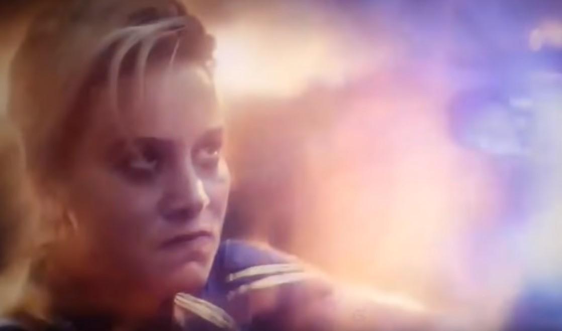 Brie Larson Avengers Endgame Captain Marvel short hair costume