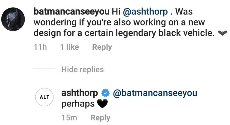 Batman Batmobile Ash Thorps