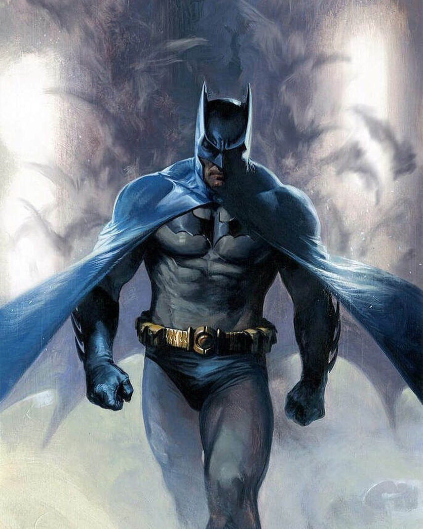 Batman blue grey