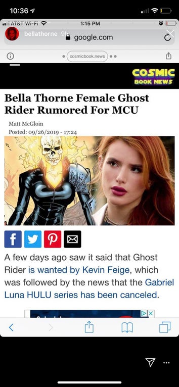 Bella Thorne Ghost Rider
