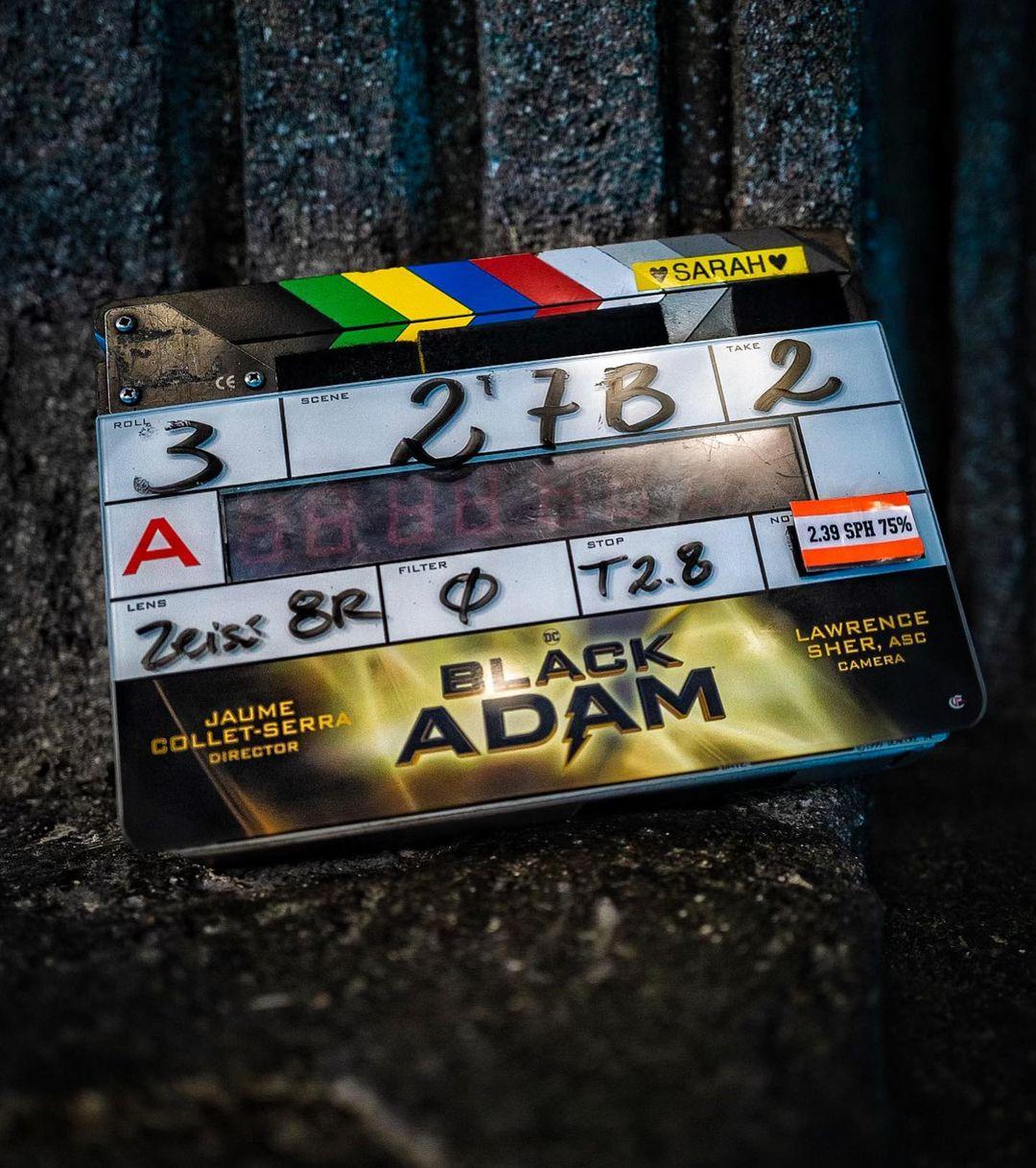 Black Adam now filming Dwayne Johnson