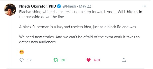 Black Superman Nnedi Okorafor