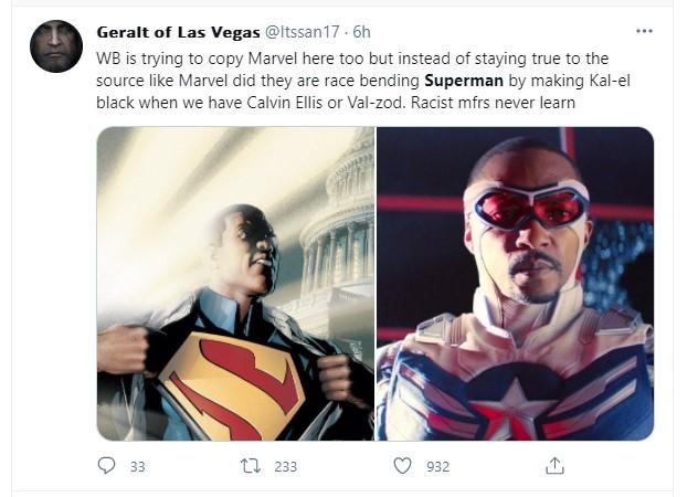 Black Superman tweet twitter