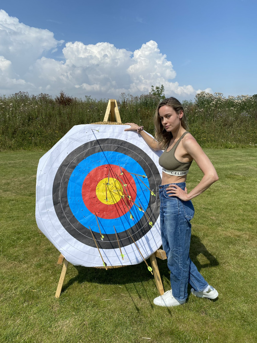 Brie Larson bow and arrow