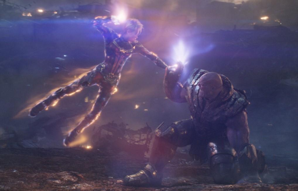 Brie Larson Captain Marvel vs Thanos Avengers Endgame