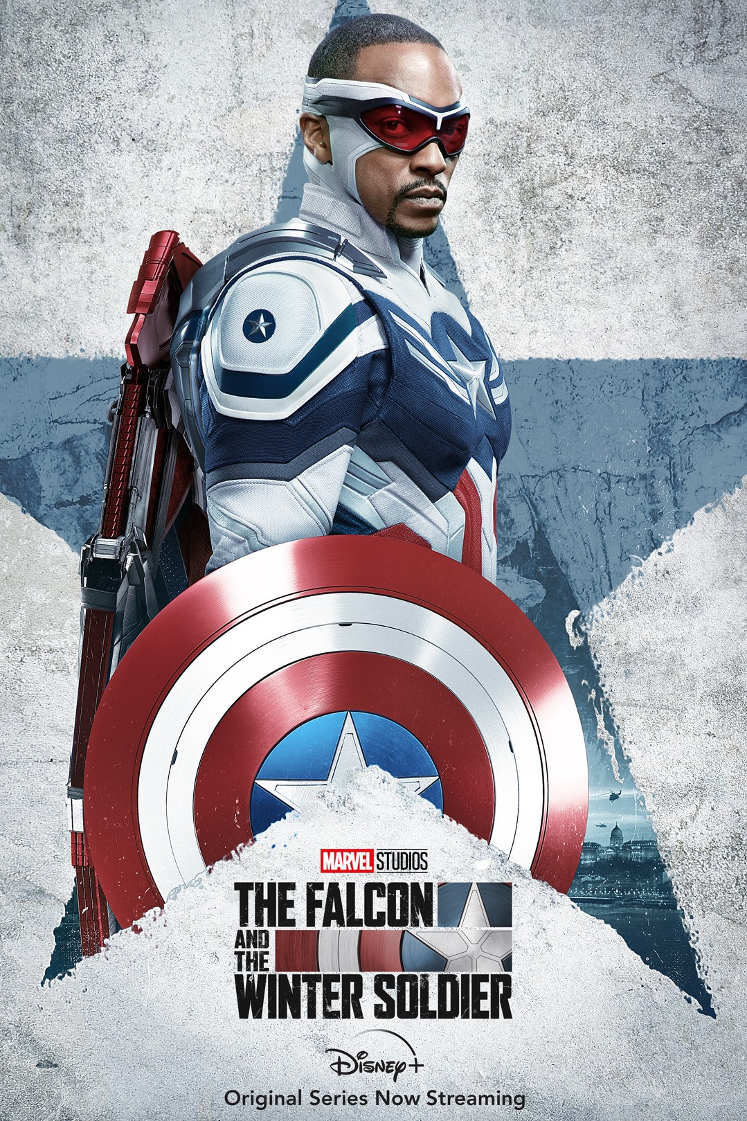 Captain America Anthony Mackie poster