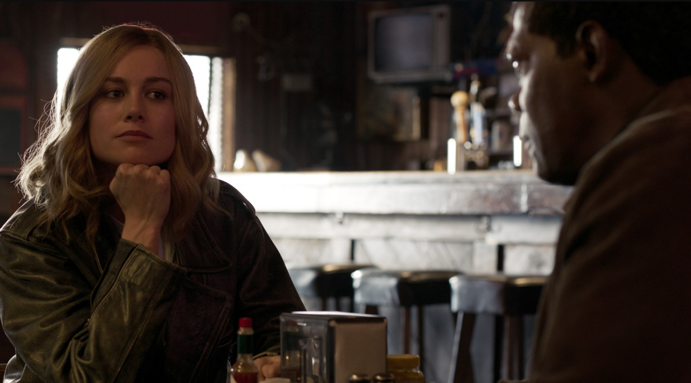 Captain Marvel Brie Larson Samuel L Jackson