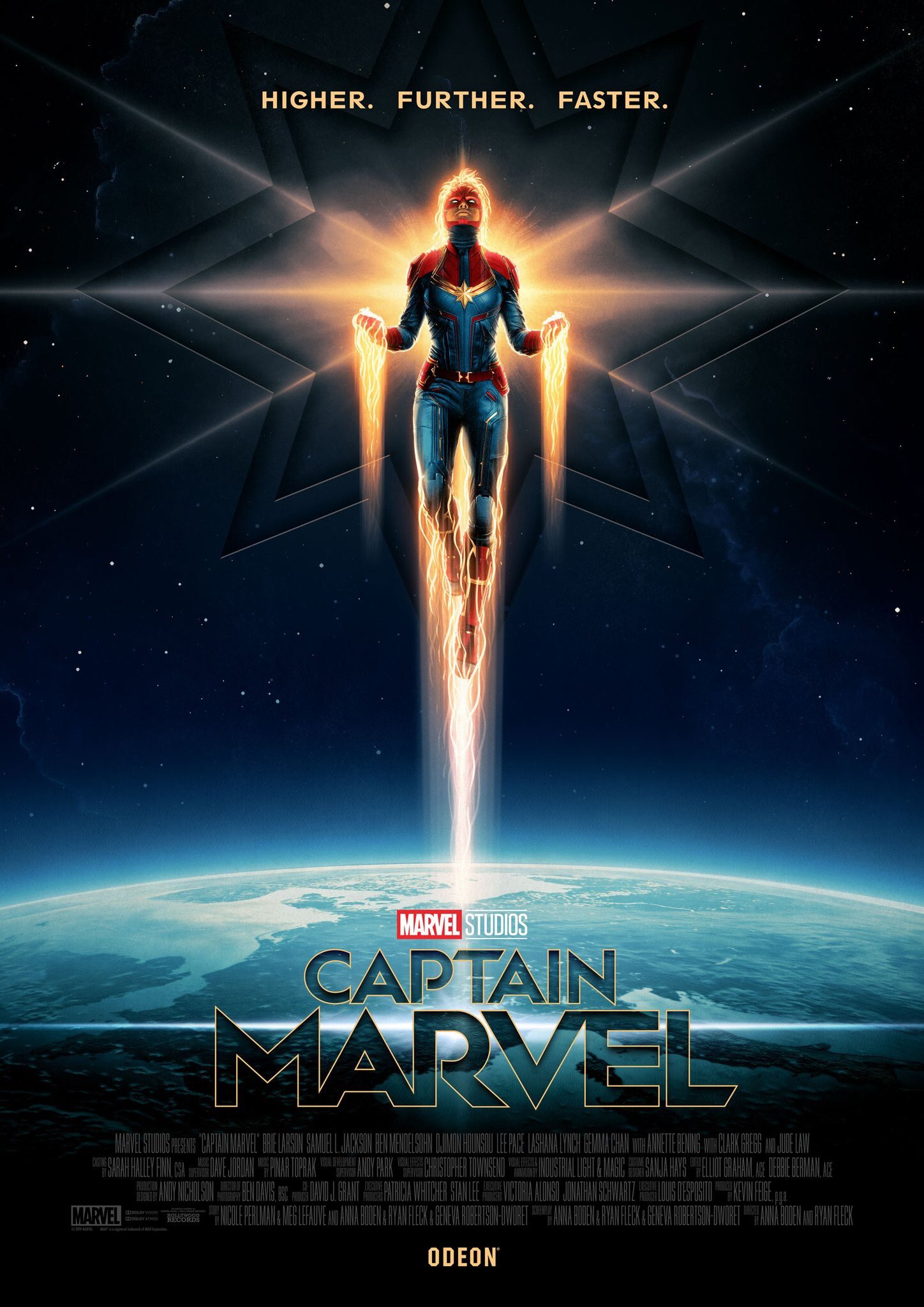 Captain Marvel Goes Higher, Further, Faster In New Poster and Images