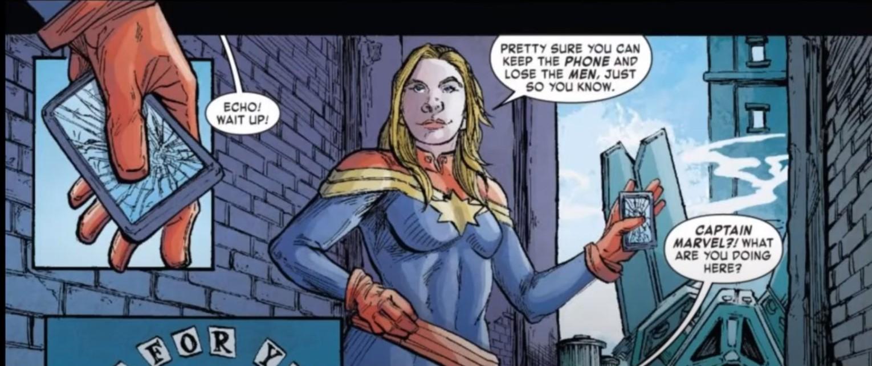 Captain Marvel lose the men