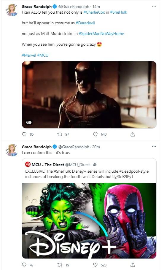 Charlie Cox Darevil new costume Spider-Man No Way Home She-Hulk