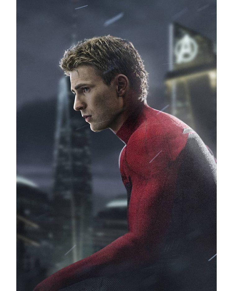 Chris Evans Spider-Man fan art