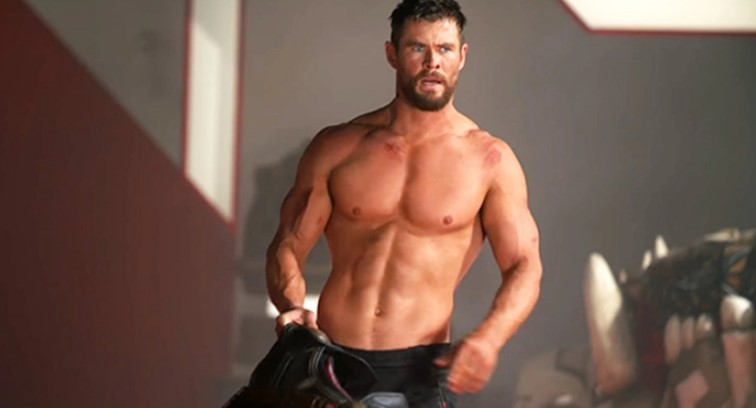 Chris Hemsworth Thor shirtless