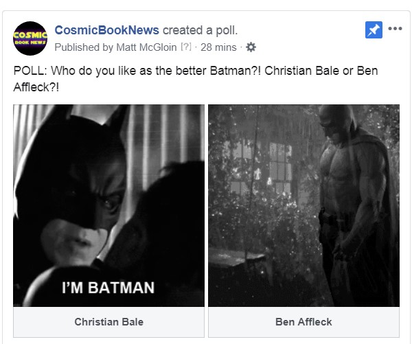 Christian Bale Batman Ben Affleck poll