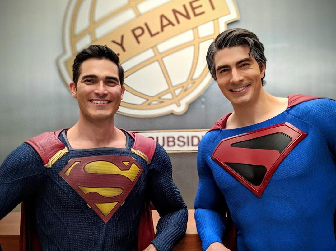 Crisis On Infinite Earths Brandon Routh Superman and Tyler Hoechlin Man of Steel