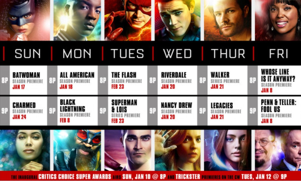 The CW DC schedule