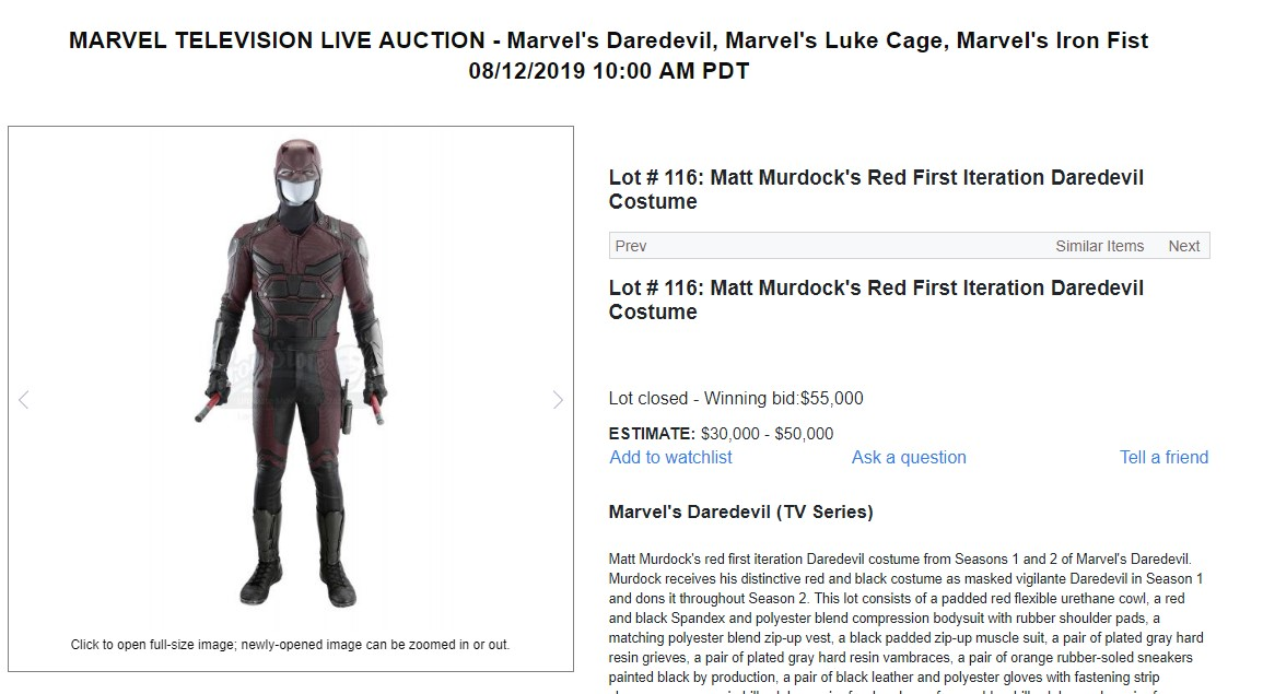 Daredevil Marvel Auction