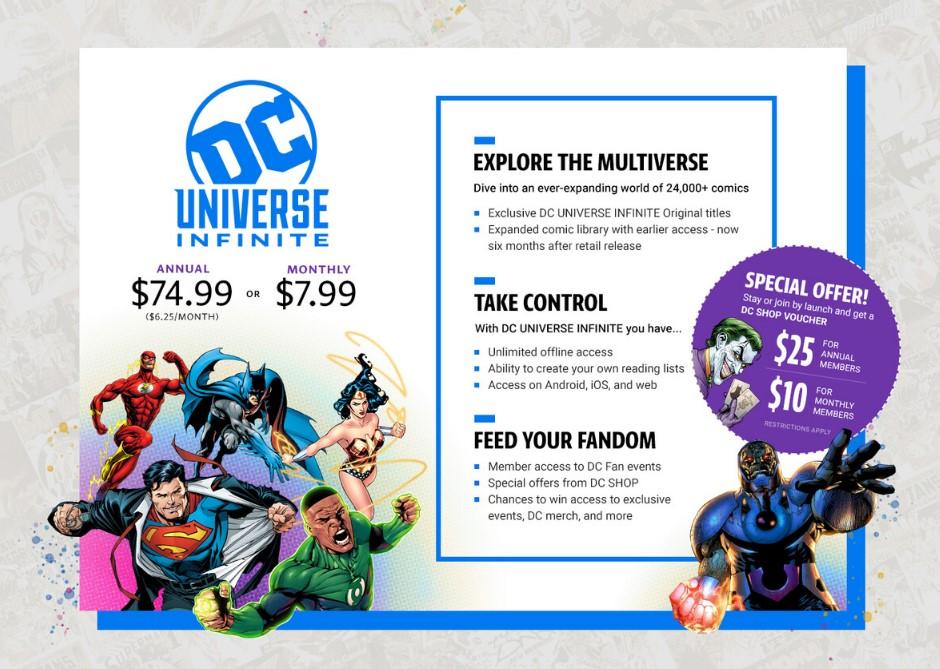 DC Universe Infinite subscription