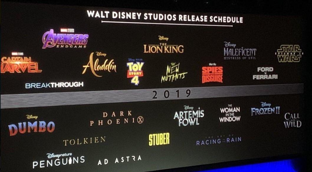 Disney release schedule