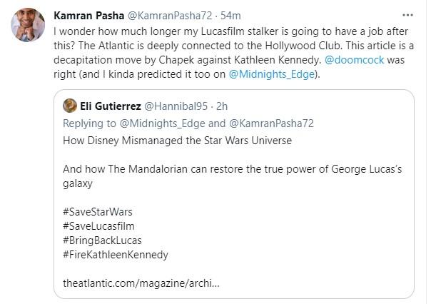 Disney Star Wars Kathleen Kennedy tweet