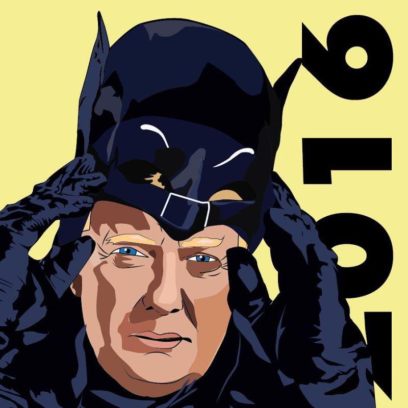 Donald Trump Batman fan art