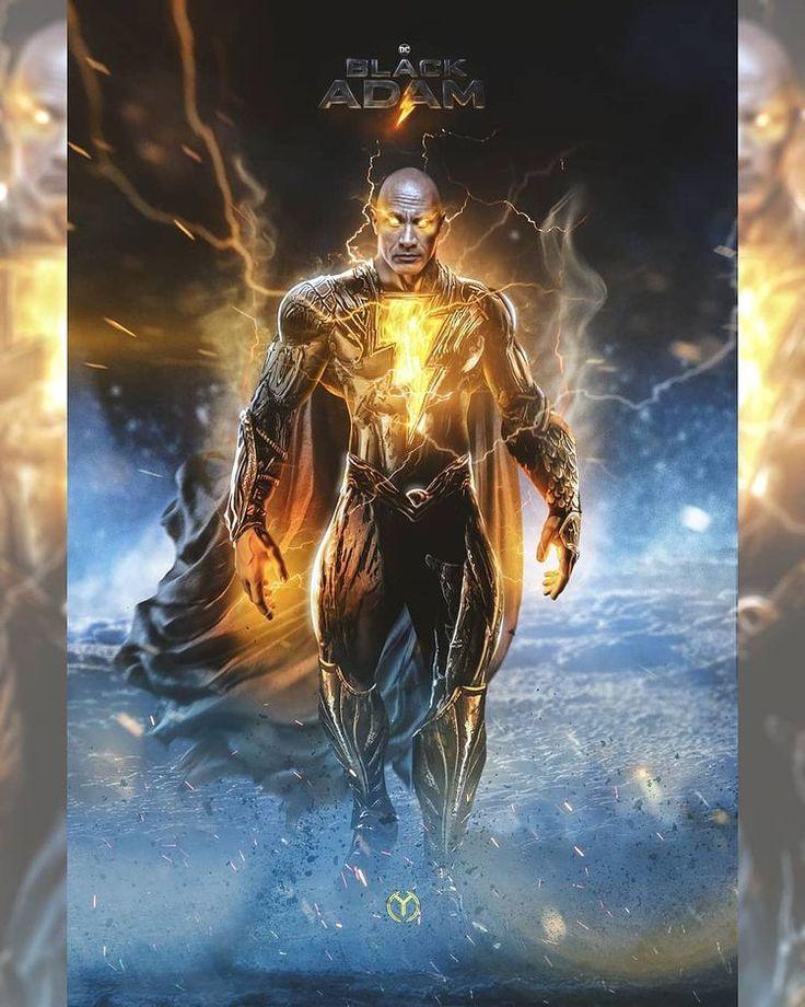 Dwayne Johnson Black Adam suit fan art