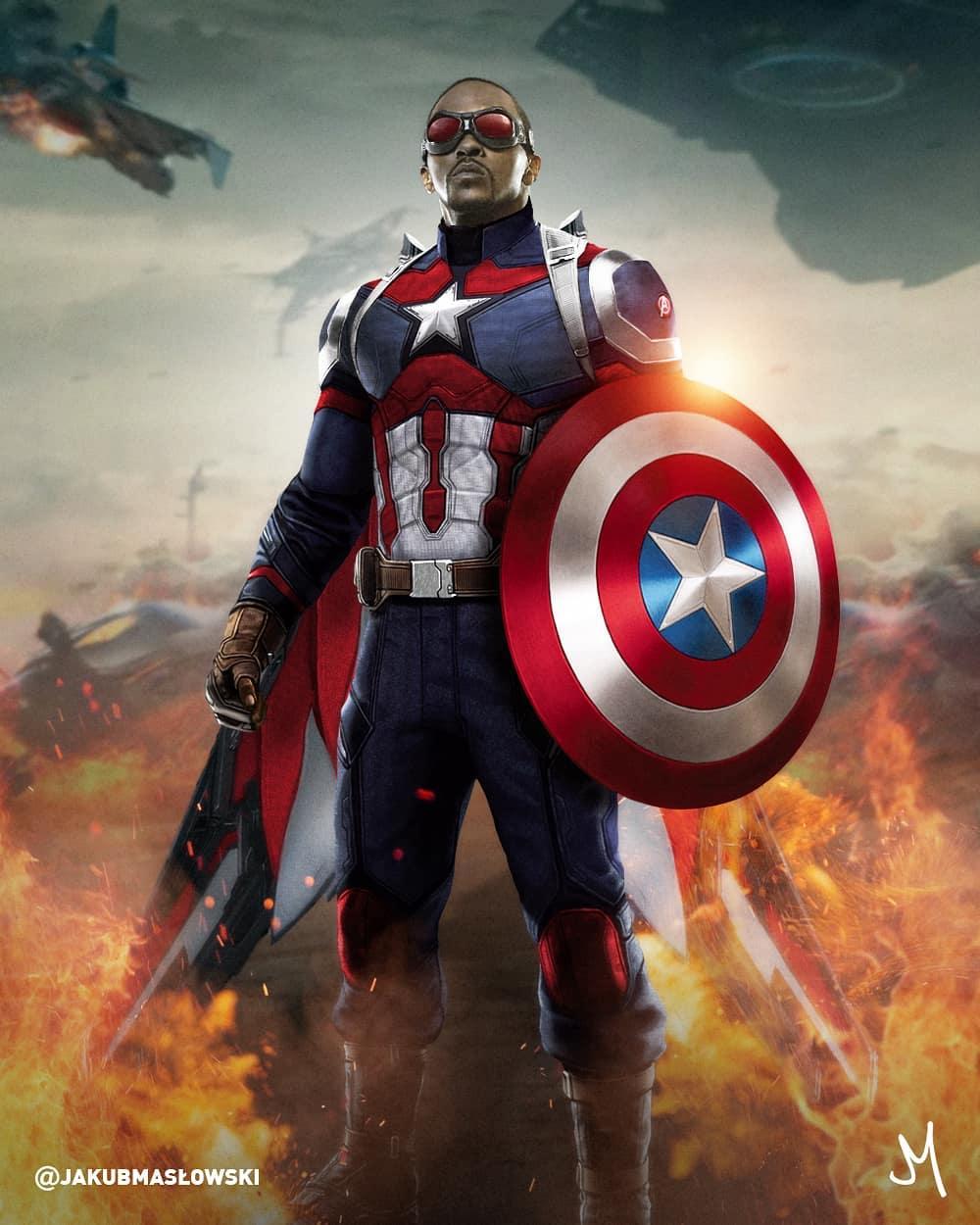 Falcon Captain America fan art