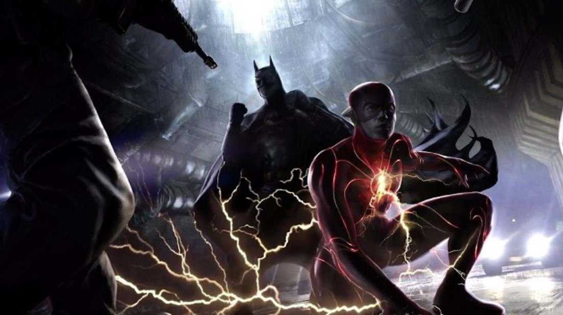 Michael Keaton Batman Concept Art for The Flash