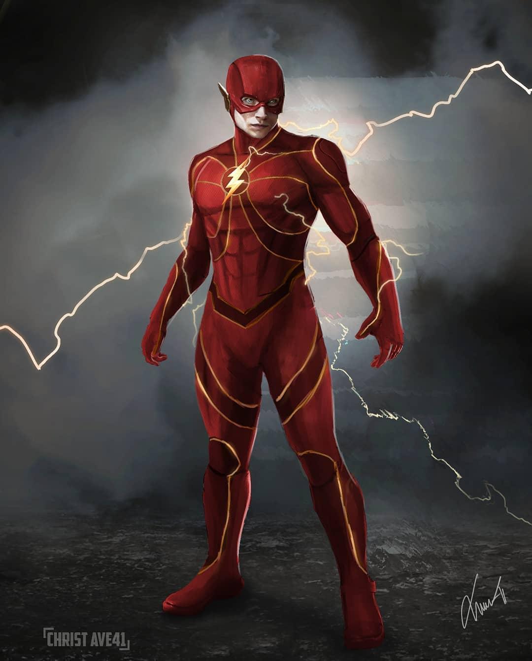 The Flash Ezra Miller fan art