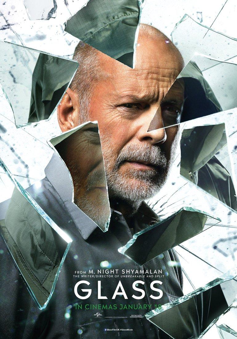 Glass Bruce Willis poster