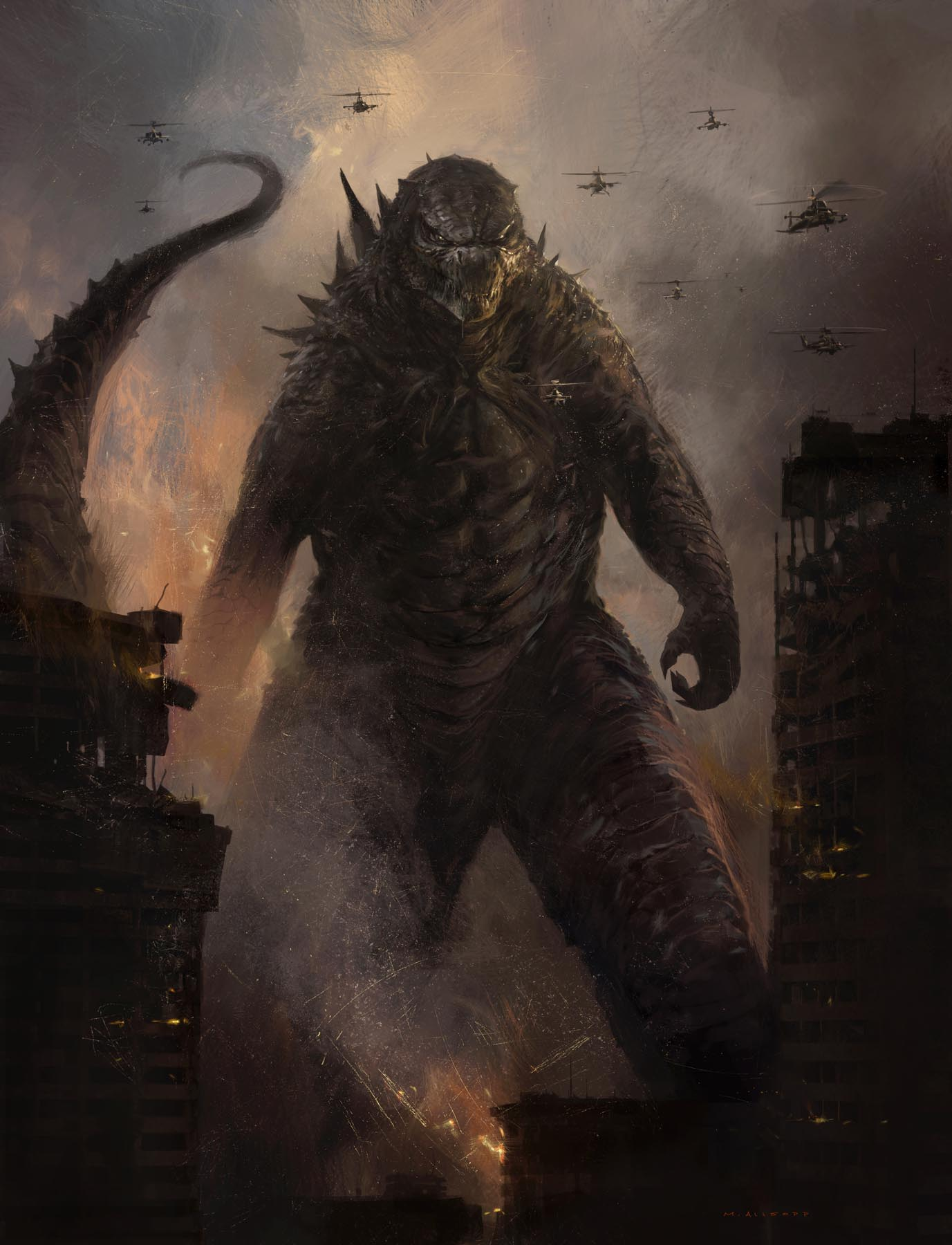 Godzilla King of the Monsters concept art
