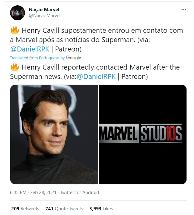 Henry Cavill Marvel Superman