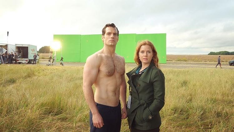 Henry Cavill shirtless Superman Justice League