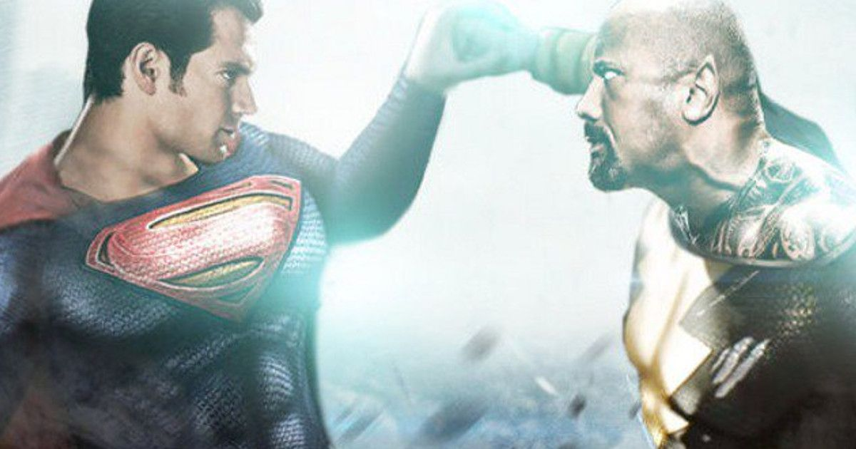 Henry Cavill Superman vs Dwayne Johnson Black Adam