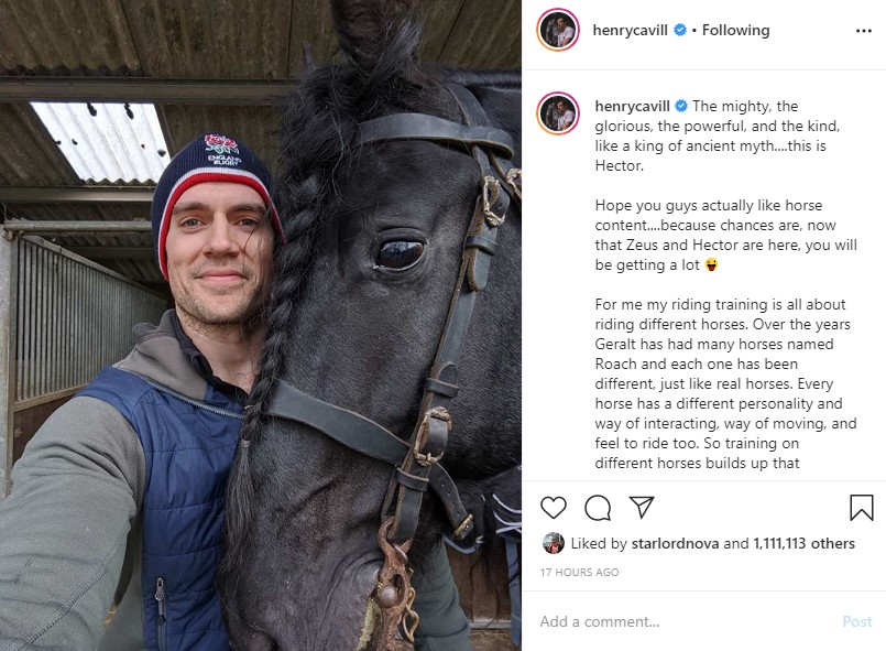 Henry Cavill The Witcher Season 2 Hector Horse