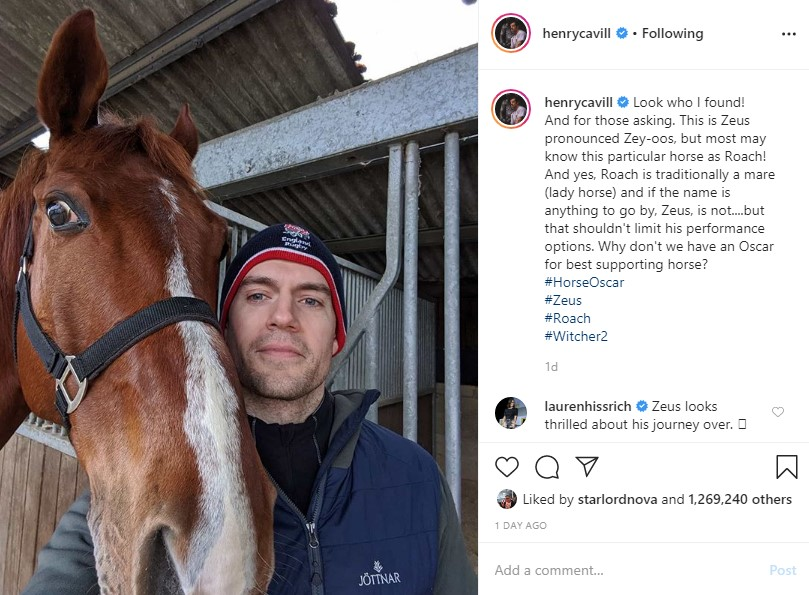 Henry Cavill The Witcher Season 2 Zeus Horse