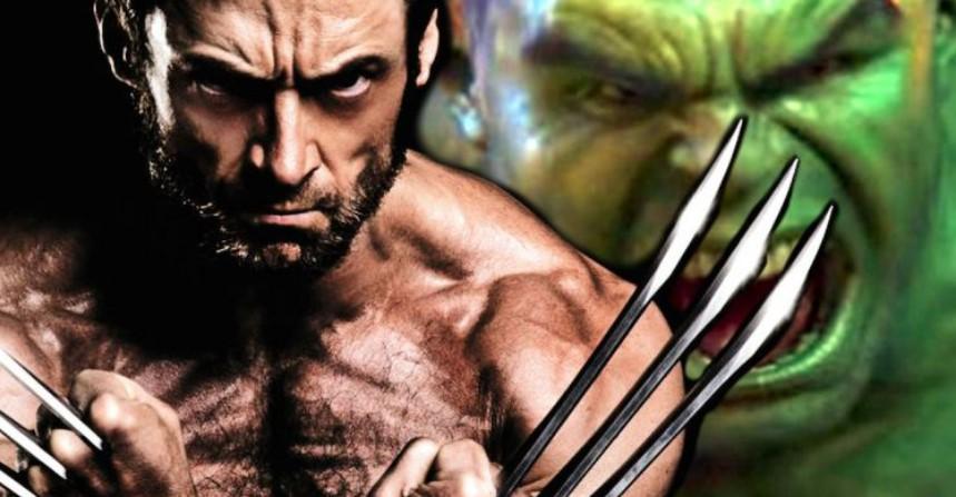 Hugh Jackman Wolverine vs Hulk