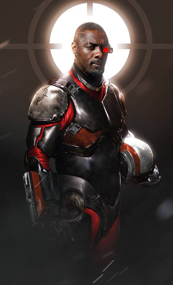 Idris Elba Deadshot fan art Suicide Squad 2