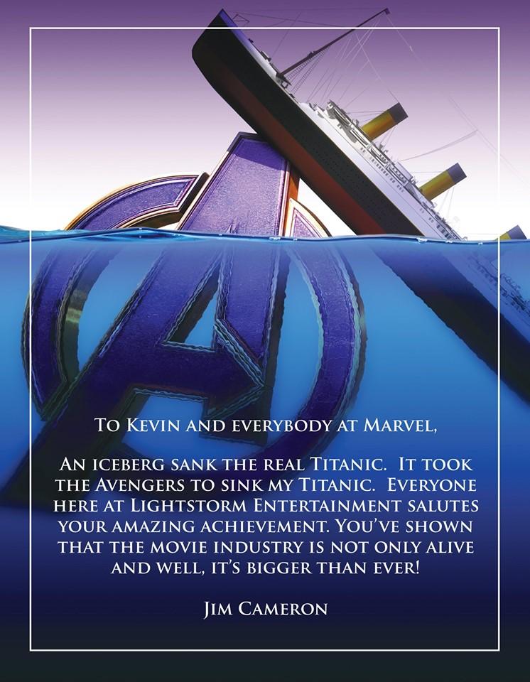 James Cameron Avengers: Endgame