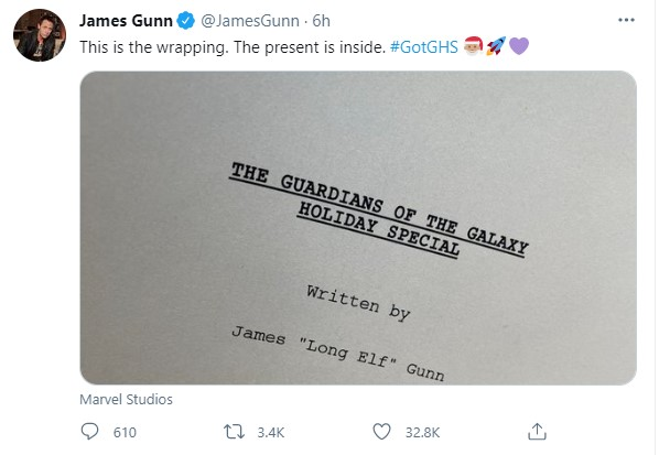 James Gunn Guardians of the Galaxy Holiday Special