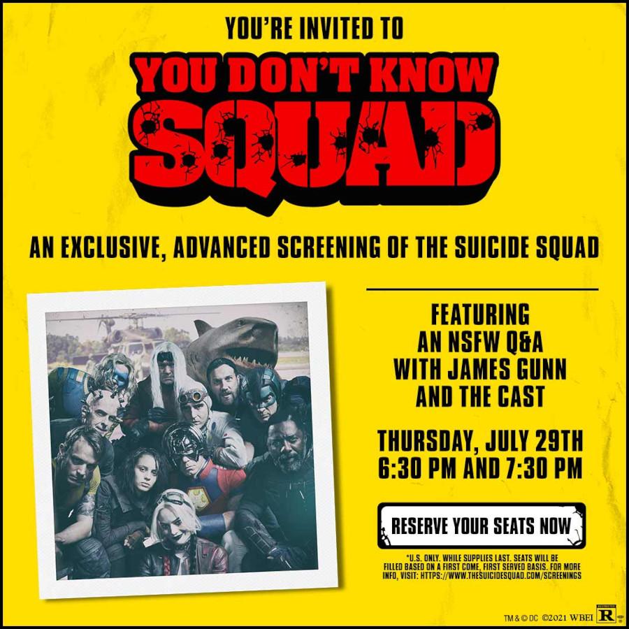 James Gunn The Suicide Squad fan screening